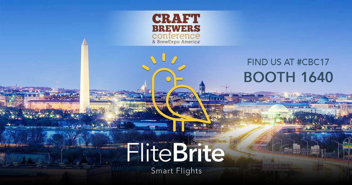 2017 Craft Brewers Conference - FliteBrite - Booth 1640