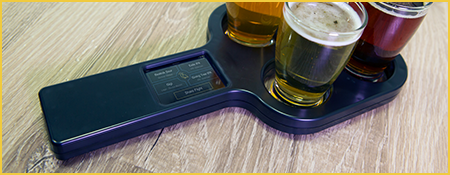 Electronic Beer Flight Paddles